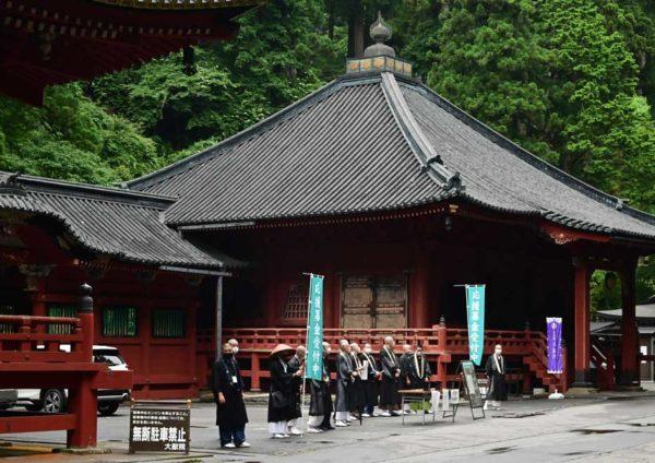 天台宗栃木教区主催救援托鉢、輪王寺で開催